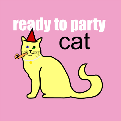 ready to party cat